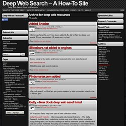 Deep Web Search - A How-To Site