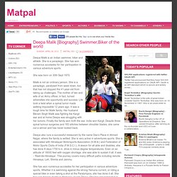 Deepa Malik [Biography] Swimmer,Biker of the world ~ Matpal