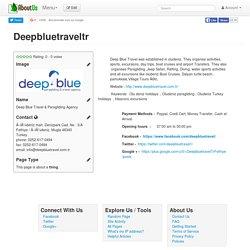 Deepbluetraveltr
