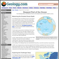 Deepest Part of the Ocean - Deepest Ocean Trench