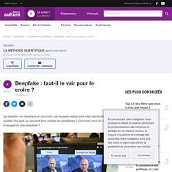 Deepfake : faut-il le voir pour le croire ?