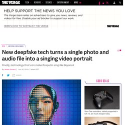 New deepfake tech turns a single photo and audio file into a singing video portrait