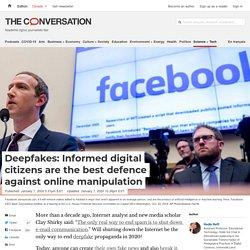 Deepfakes: Informed digital citizens are the best defence against online manipulation