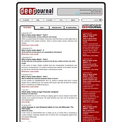 DeepJournal - the news behind the news