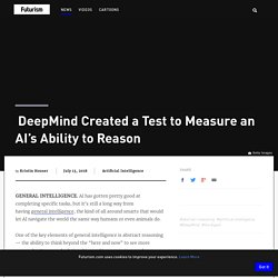 DeepMind Created a Test to Measure an AI's Ability to Reason