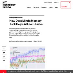 How DeepMind's Memory Trick Helps AI Learn Faster - MIT Technology Review