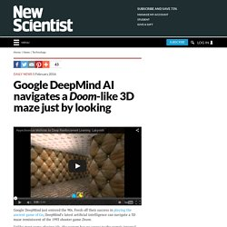 Google DeepMind AI navigates a Doom-like 3D maze just by looking