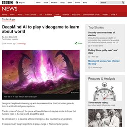 DeepMind AI to play videogame to learn about world