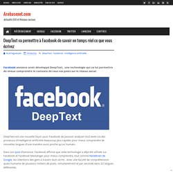 DeepText va permettre à Facebook de savoir en temps réel ce que vous écrivez