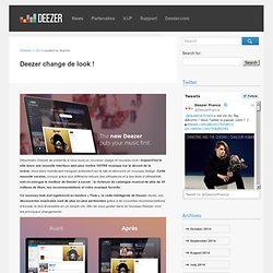 Deezer change de look !