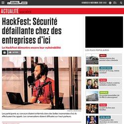 HackFest: Sécurité défaillante chez des entreprises d'ici