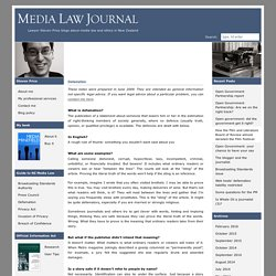 Media Law Journal