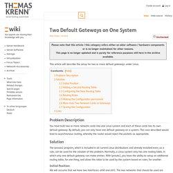 Two Default Gateways on One System - Thomas-Krenn-Wiki