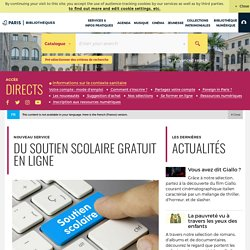 Soutien scolaire en ligne sur bibliotheques.paris.fr