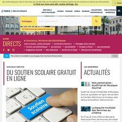 Nouveau : du soutien scolaire en ligne sur le site des bibliothèques de paris..
