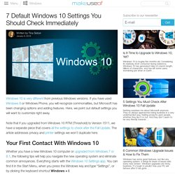 7 Default Windows 10 Settings You Should Check Immediately