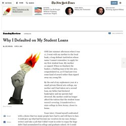 Why I Defaulted on My Student Loans
