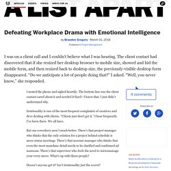 Defeating Workplace Drama with Emotional Intelligence