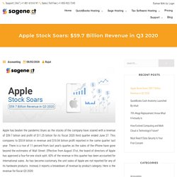 Apple Defeats The Pandemic With a Revenue of $59.7 billion in Q3 2020