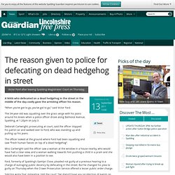 The reason given to police for defecating on dead hedgehog in street - News - Spalding Guardian