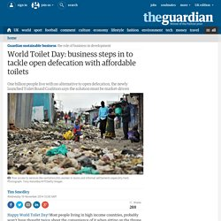 World Toilet Day: business tackles open defecation with affordable toilets
