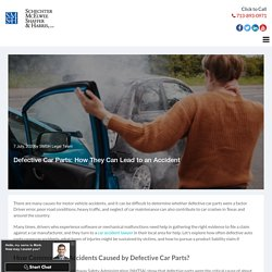 Defective Car Parts: How They Can Lead to an Accident