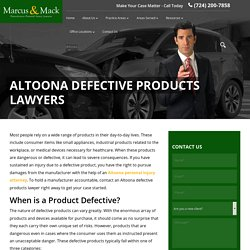 Altoona Defective Products Lawyer