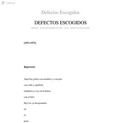 Defectos Escogidos