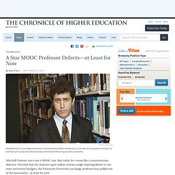 A MOOC Star Defects, at Least for Now