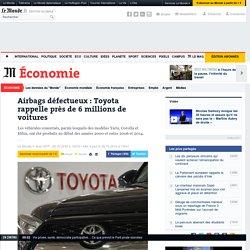 Airbags défectueux: Toyota rappelle près de 6millions de voitures