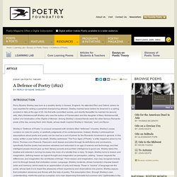 A Defence of Poetry by Percy Bysshe Shelley