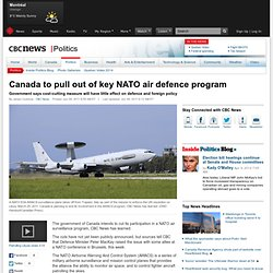 Canada to pull out of key NATO air defence program - Politics