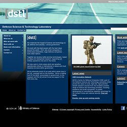 Home | dstl | Defence Science and Technology Laboratory