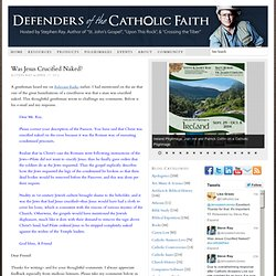 "Defenders of the Catholic Faith | Hosted by Stephen K. Ray | Author of ""St. John's Gospel"", ""Upon This Rock"", & ""Crossing the Tiber"""