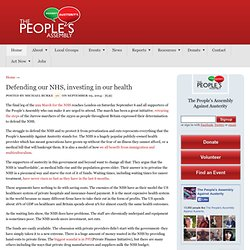 Defending our NHS, investing in our health - The People's Assembly Against Austerity