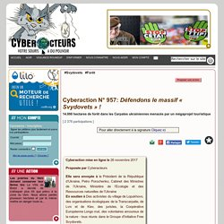 Défendons le massif « Svydovets » ! cyberaction