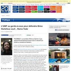 L'UMP au garde-à-vous pour défendre Brice Hortefeux sauf... Rama
