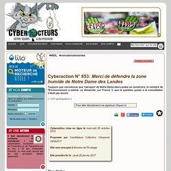 Merci de défendre la zone humide de Notre Dame des Landes cyberaction