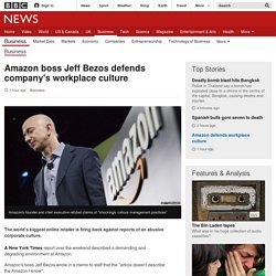 Amazon boss Jeff Bezos defends company's workplace culture