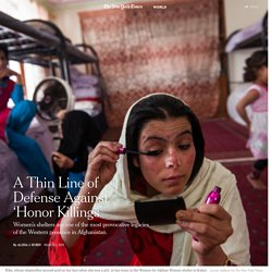 A Thin Line of Defense Against 'Honor Killings'