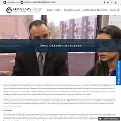 Drug Defense Attorney Phoenix, AZ