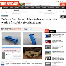 Defense Distributed claims to have created the world's first fully 3D-printed gun