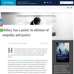 In defense of empathy and justice