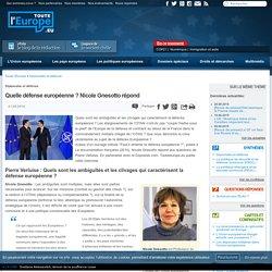 Quelle défense européenne ? Nicole Gnesotto répond