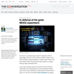 In defense of the great MOOC experiment