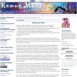 Défense de l'infini - Remue Méninge