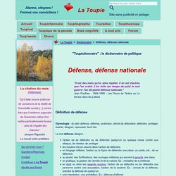 Défense, défense nationale