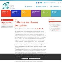 Défense au niveau européen