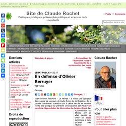 En défense d'Olivier Berruyer - Site de Claude Rochet