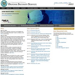 Defense Security Service (DSS) Internet Homepage - Flash Version
